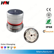 High power solar signal chimney aviation obstruction warning light