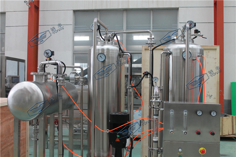 4000LPH carbonate beverage co2 mixer with high carbon dioxide content
