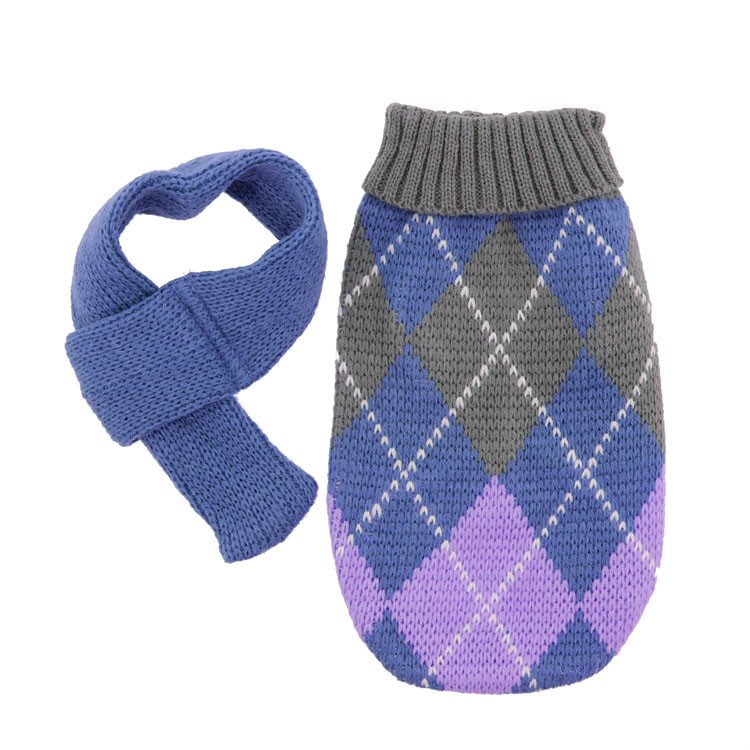 Novelty heated cotton knitted dog coats for large dogs