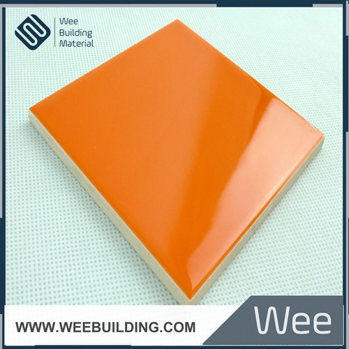 foshan factory interior tile ceramic orange color