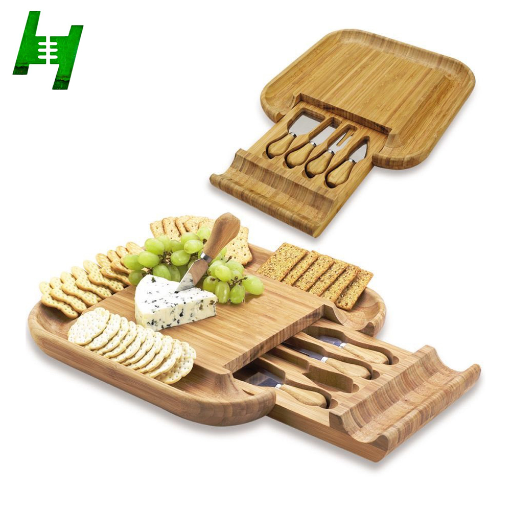 2017 gift cheese board with knife,fork,shovel
