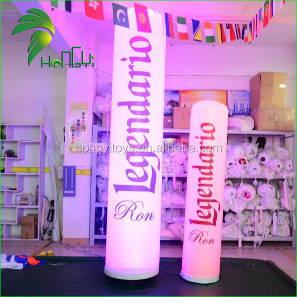 Portable LED Light Inflatable Column For Advertising , Inflatable Lamp Post For Decoration