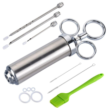 Christmas gift BBQ Tools stainless steel marinade meat <strong>injector</strong> kit Poultry Turkey Chicken <strong>injector</strong>