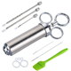 Christmas gift BBQ Tools stainless steel marinade meat injector kit Poultry Turkey Chicken injector