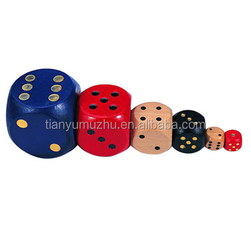 Factory supply printed or engrave wooden dice custom sex play game dice wholesale