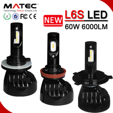 Luces LED Para Autos L6 Car LED Headlight H4 H7 High Power 9007 LED Headlight with CE FCC ROHS Certification