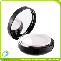 Cosmetic air BB cushion compact powder case with mirror