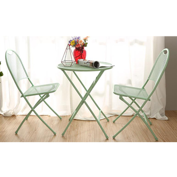 Outdoor Garden Space-saving Dining Chair and Table Set