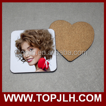 nice home ornaments sublimation coaster with cork back