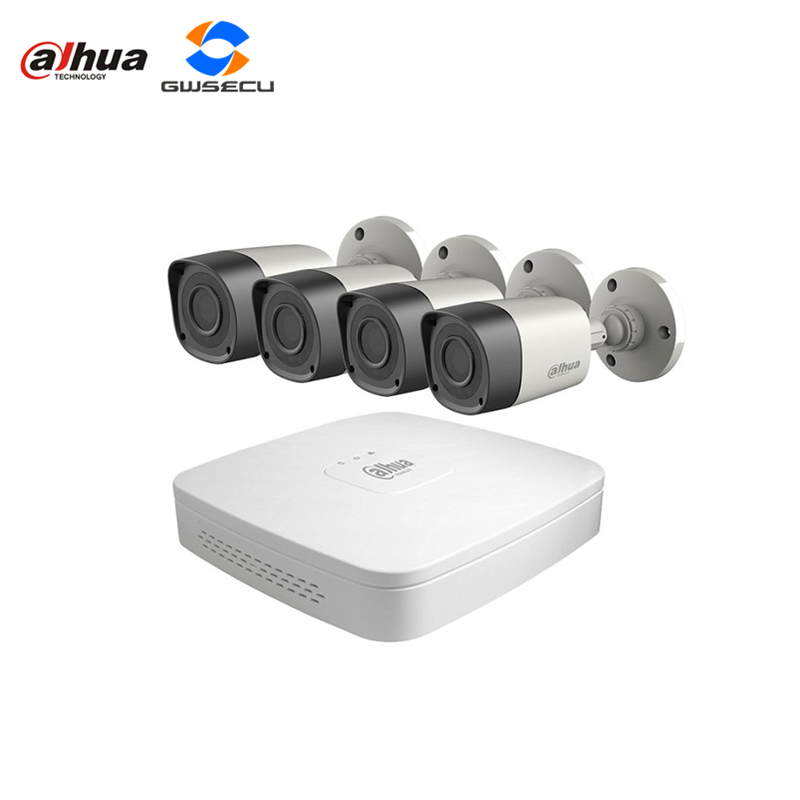 wholesale dahua hdcvi dvr kits 4ch 720p security analog hd cctv dvr hcvr4104c 4ch 1megapixel hd cvi camera hac-hfw1000r
