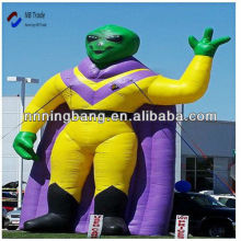 Attractive height 8 M green inflatable alien