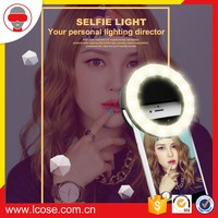 Lcose Selfie LED Ring Flash Fill Light Clip
