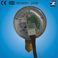 50mm high single scale pressure air case CNG manometer outset external sensor cng pressure gauge for natural gas design ISO
