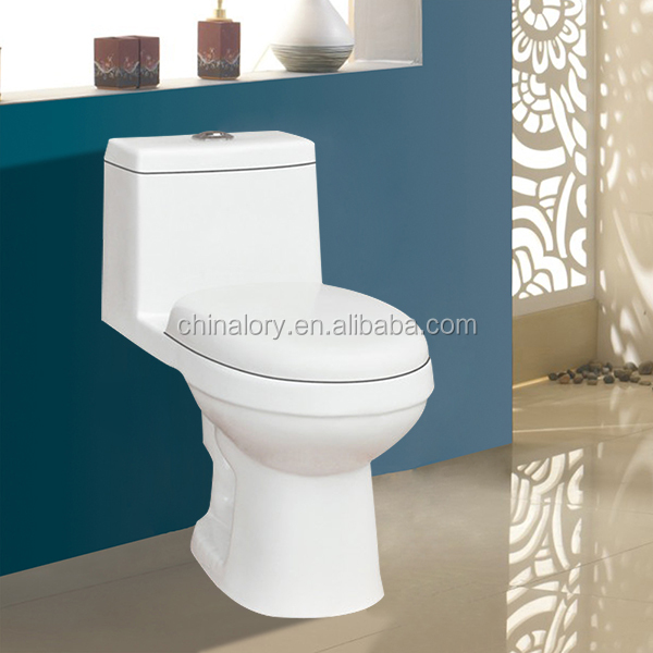 White color wc toilet/Bathroom One piece toilet/sanitary ware one piece siphonic toilet