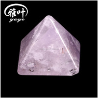 Factory Selling Natural Amethyst Pyramid Beautiful Color Amethyst Quartz Healing Pyramid for Birthday Gifts