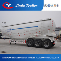 JinDa Bulker cement silo tanker trailer , truck powder bulk cement tank semi trailer for sale