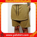 Hot sale casual streetwear plain cheap drawstring 100%cotton wholesale blank sweat shorts with flap layer