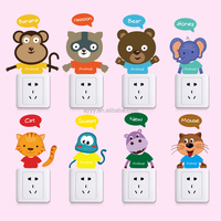 SK36003 Cute cartoon animals home decoration switch sticker DIY appliance wall sticker