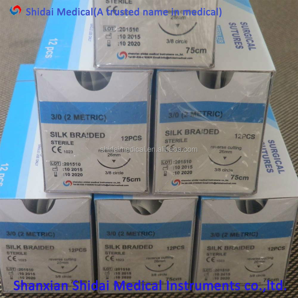 Wholesale price NON Absorbables Blue Monifilament nylon surgical Suture