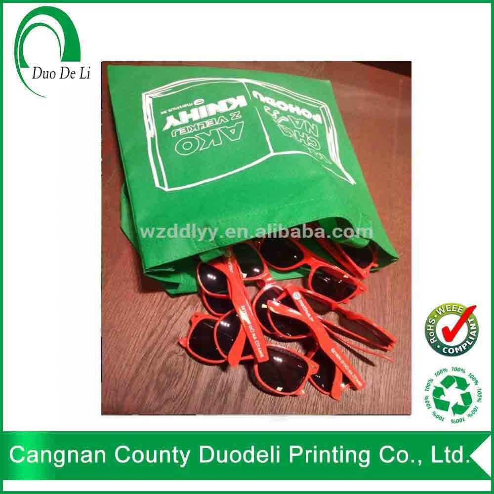 DDL cheap price shopping tote bag no bottom no gusset promotion non woven bag with customer logo for shopping wholesales