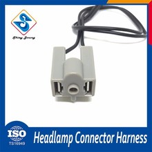 Hot Sale car headlight 2 pin male and female wiring harness plug connector