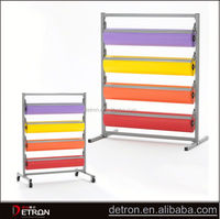 Customized metal carpet rolling display rack