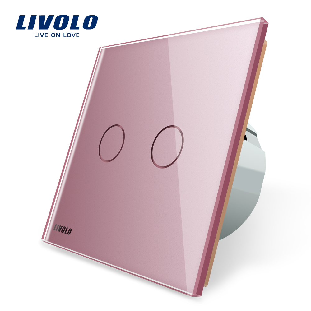 LIVOLO VL-C702SR-17 EU 220V type ir wireless remote touch <strong>switch</strong>