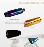 stainless steel muffler colored chrome surface