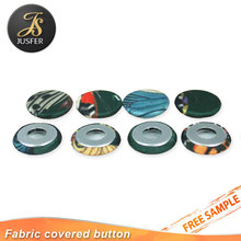 Manufacturer direct sale self covered button round aluminum hollow button