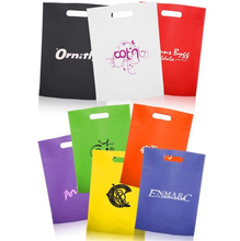 wholesale customized printing travel d cut non-woven bags