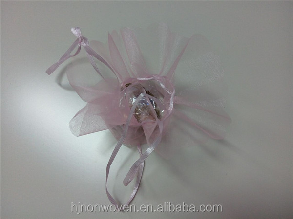 OD23cm Organza bag with drawstring for candy packing