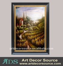 Field View Oil Painting w/Frame in 3 sizes