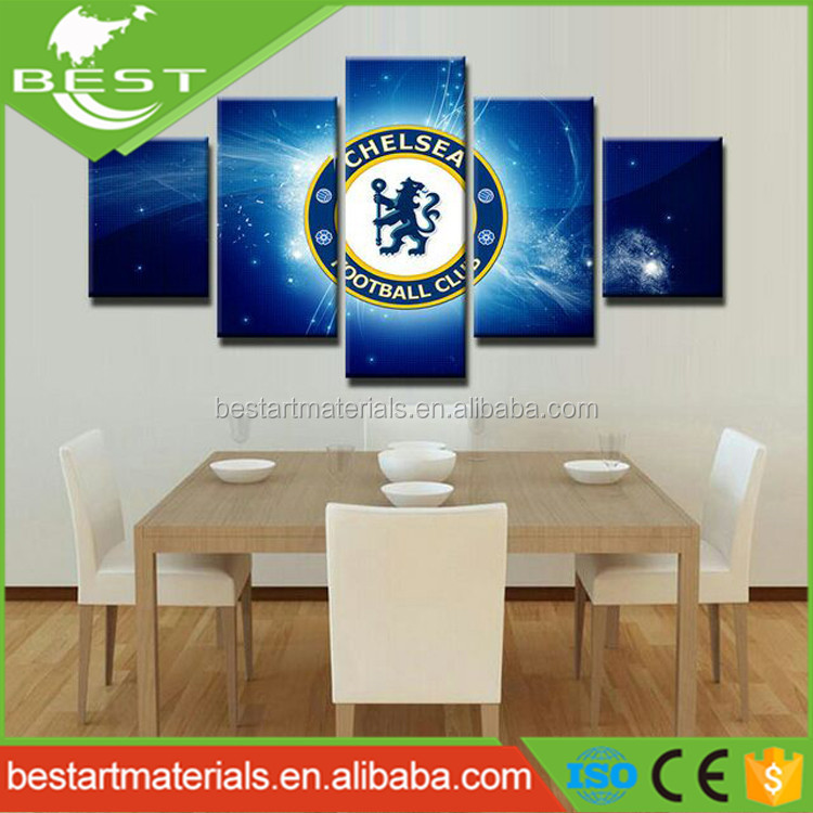 Football Club Home Decor Canvas 3 Piece Canvas Wall Art for Living Room Decoration