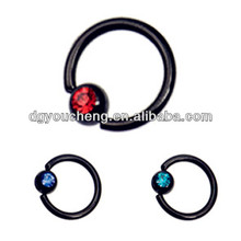 316LStainless Steel Titanium Anodised Nose Ring Bcr Piercing