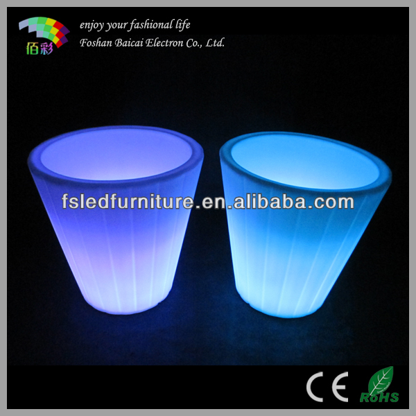 large flower pot LED illuminated, large outdoor LED flower pot BCG-922V