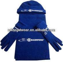 2013 fashion polar fleece hat, scarves and gloves