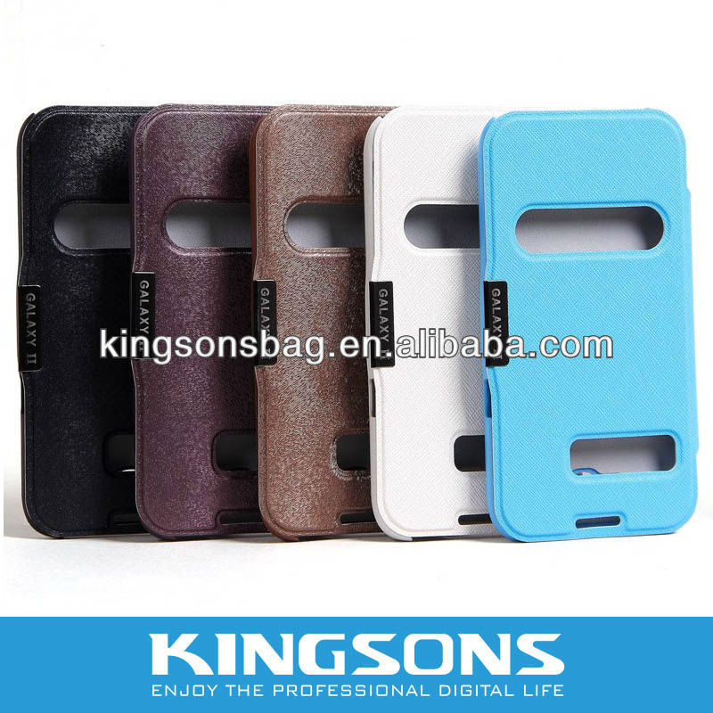 hont-selling leather case for Samsung galaxy s4