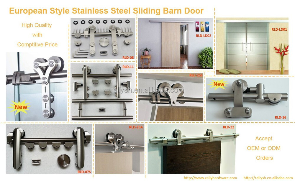 Sliding barn wood door hardware for carbon steel parts