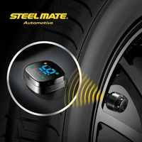 2015 Steelmate TP-76B car led Wireless DIY tpms power sensor,wireless tire pressure gauge,black body calibrator