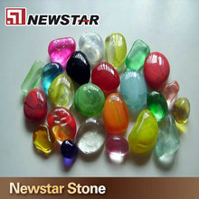 High quality Chinese polished decoration glass pebbles white