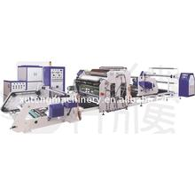 Narrow web pur hot melt coating laminating machine for transparent seal sticker tamper evident scale label
