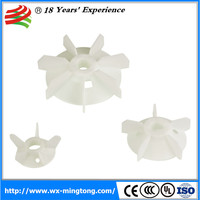 Electric motor cooling industrial fan blade