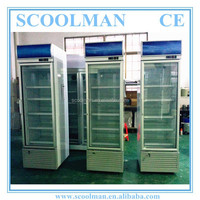 326L Cold Soft Drink Upright Fridge with Lock