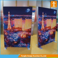 Aluminum frame,billboard advertising fabric printing led double sided outdoor led backlit light box advertising