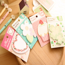 A002 Korean creative love flowers shaped custom wholesale sticky notes