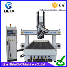 Professionoal 4 axis auto tool changer wood carving cutting cnc router machine price for wooden door metal furniture