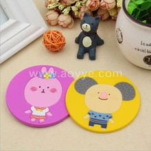 Cheap price wholesale table decoration silicone coffee pads silicone Cute cartoon heat eat mat cup mat