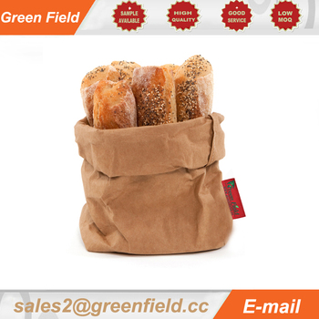 Washable leather paper bag storage food, washable Kraft paper leather bag
