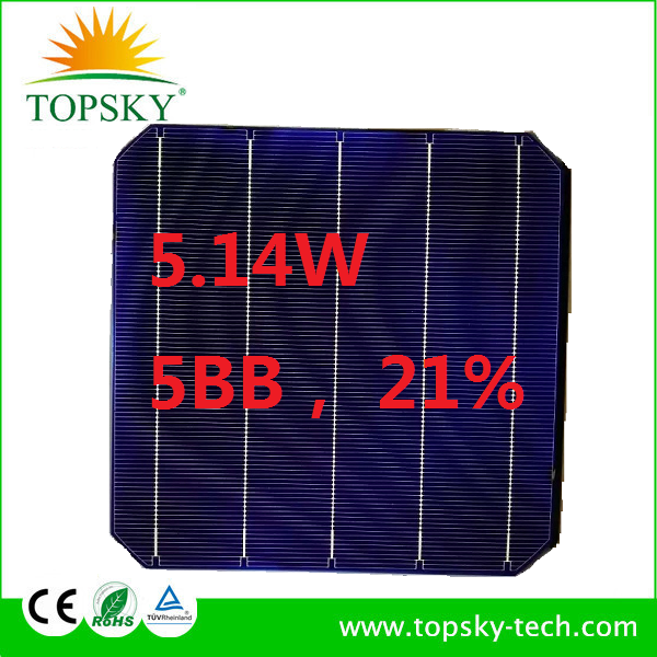 20% 5W solar cell Monocrystalline Silicon Material Wholesale Germany 6x6 mono solar cell price for solar panel plant DIY solar