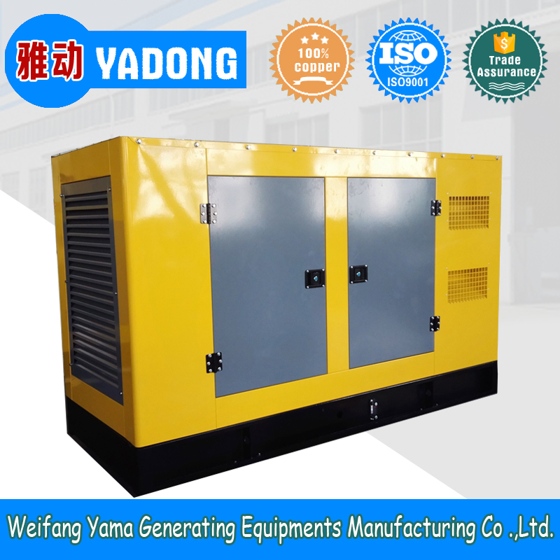 High quality China 120KW 150KVA diesel genset silent generator with soundproof set